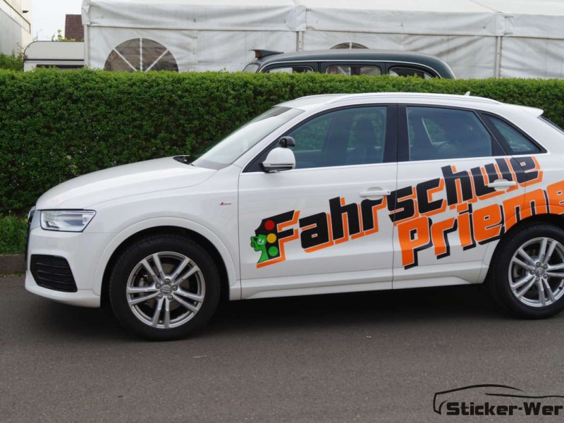 Audi Q3 Werbebeschriftung