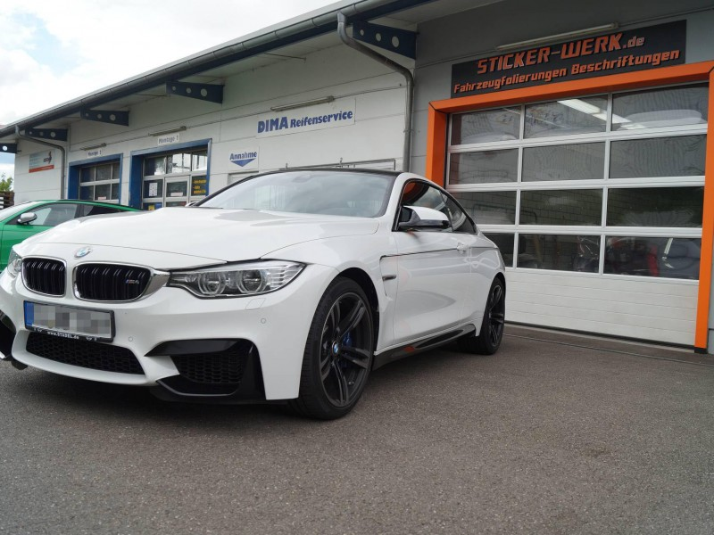 BMW M4 Teil-Folierung