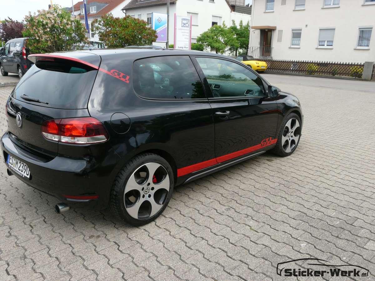 VW Golf 6 GTI Dekorfolierung für Pforzheim und Ulm