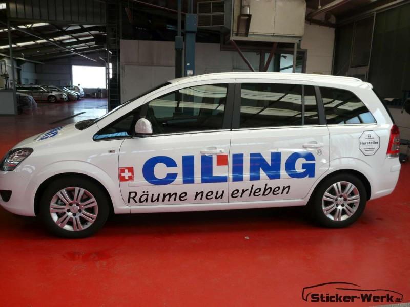 Opel Zafira Beschriftung