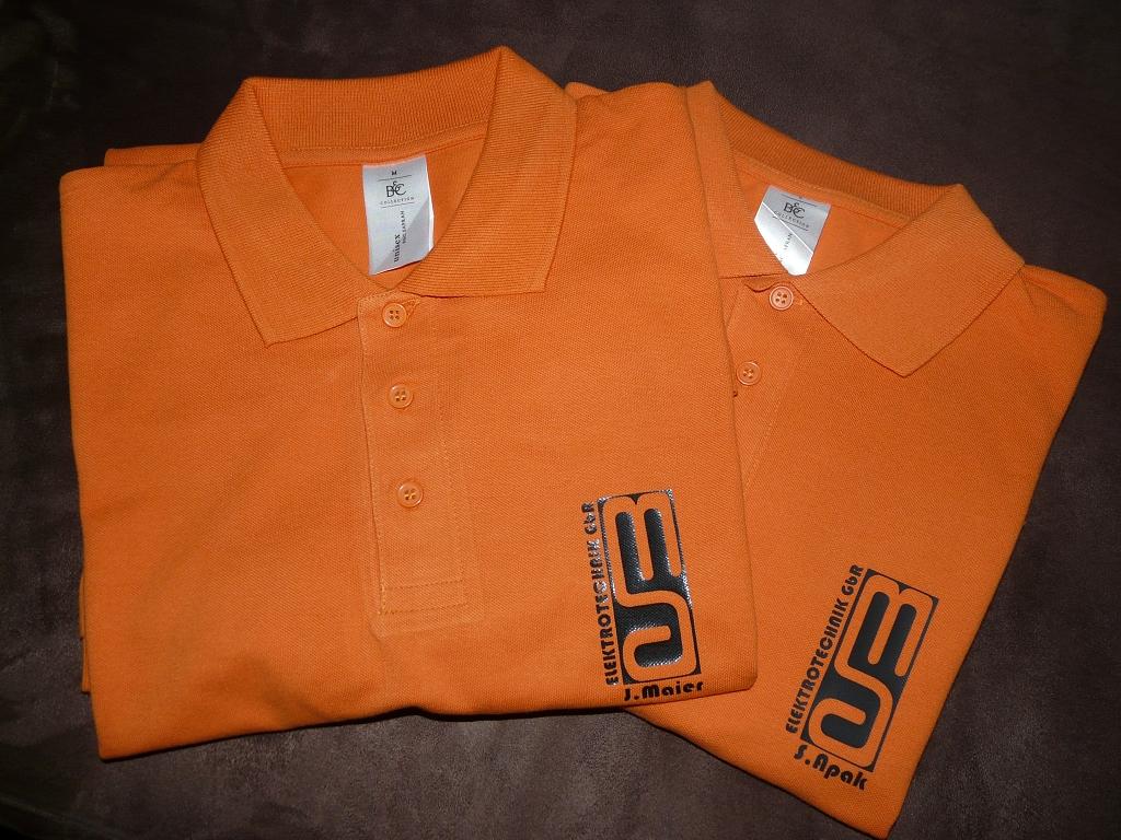 Firmen-T-Shirts bedruckt mit Plottverfahren