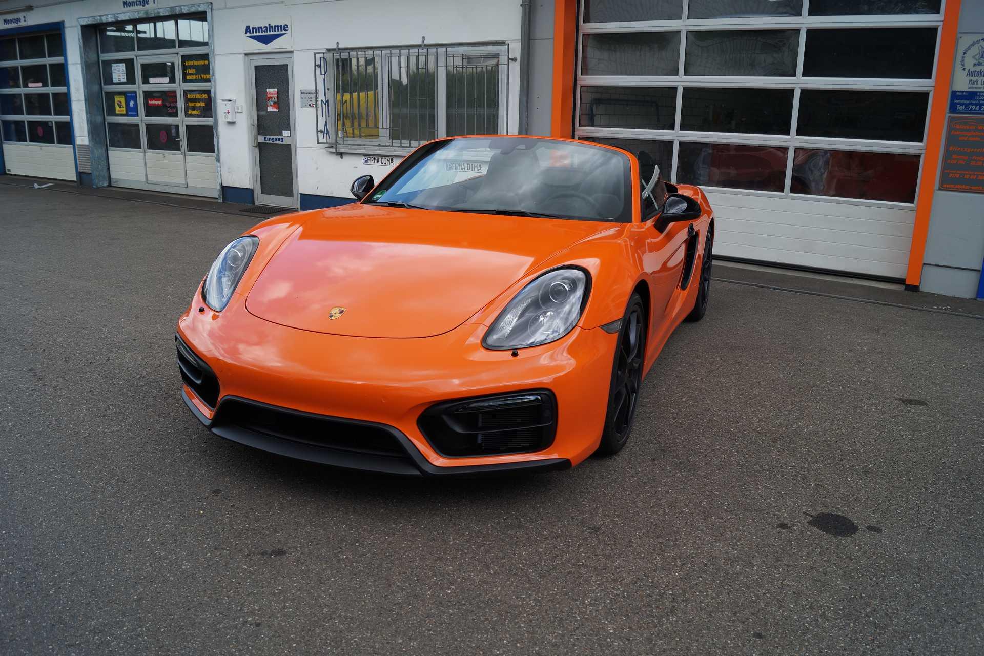 Porsche Boxter GTS Car Wrap für Ulm und Pforzheim