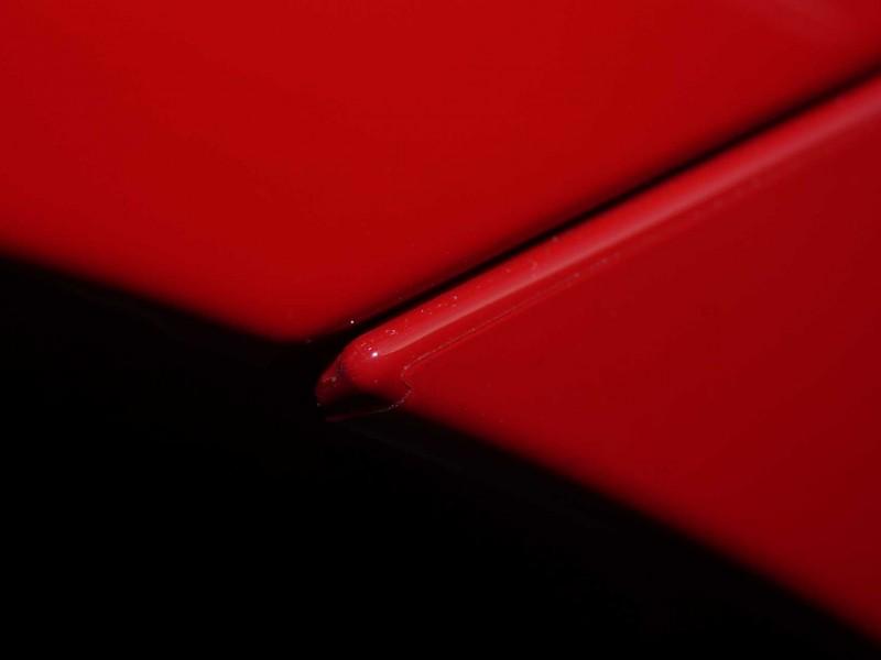 Übergange Spalte roter Porsche GTS mit Lackschutz-Folierung